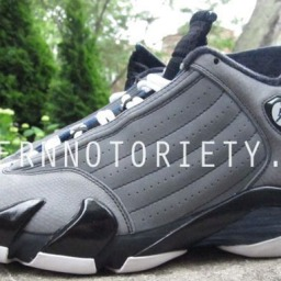 Air Jordan 14 Light Graphite/Midnight Navy-Black